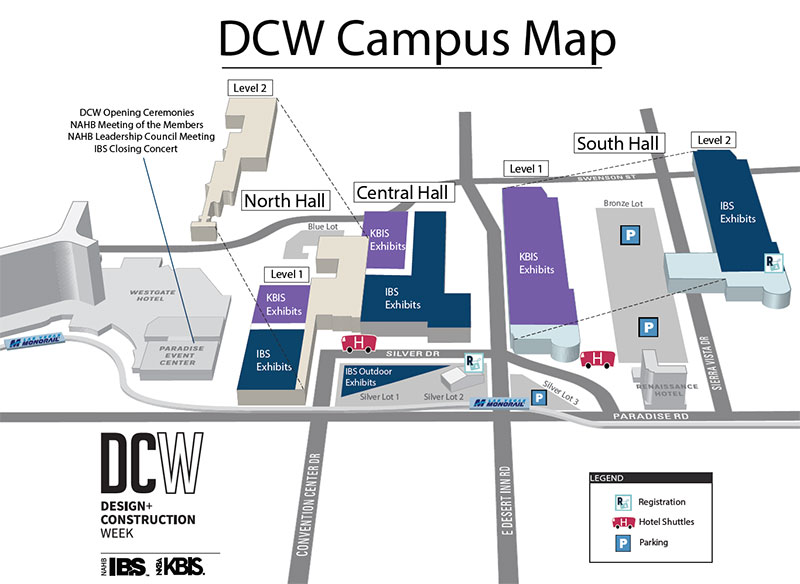 Map of DCW in Las Vegas