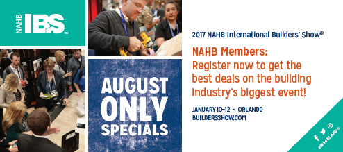 Eo builders 39 show update nahb international builders for 2017 nahb international builders show