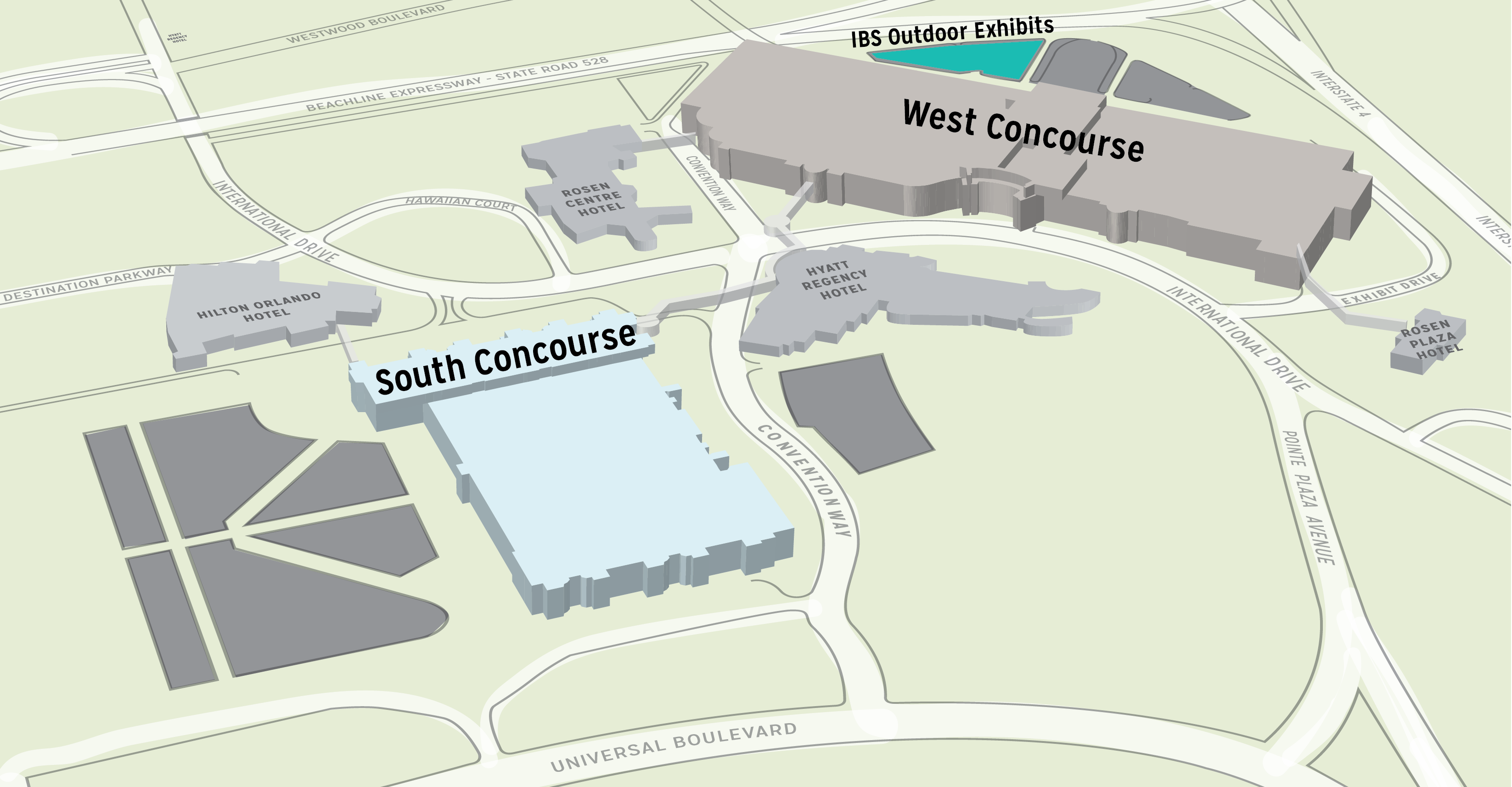 Outdoor Exhibits NAHB International Builders Show January - Orange county convention center map
