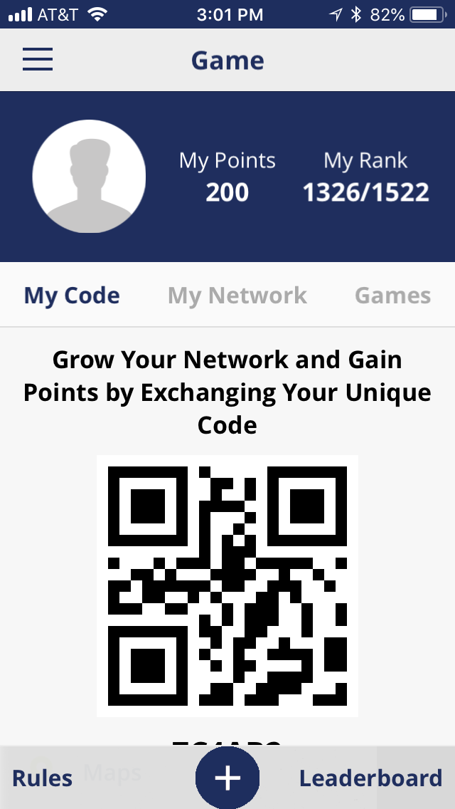 Iphone personal Attendee code for App networking