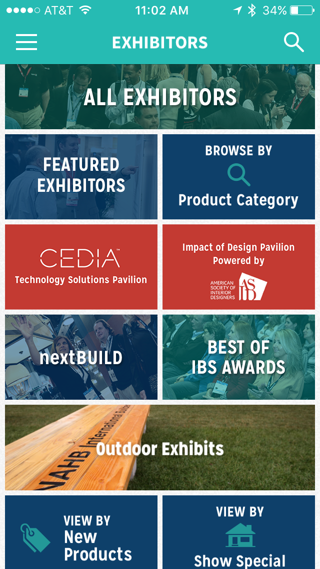 Screenshot of the IBS 2018 app