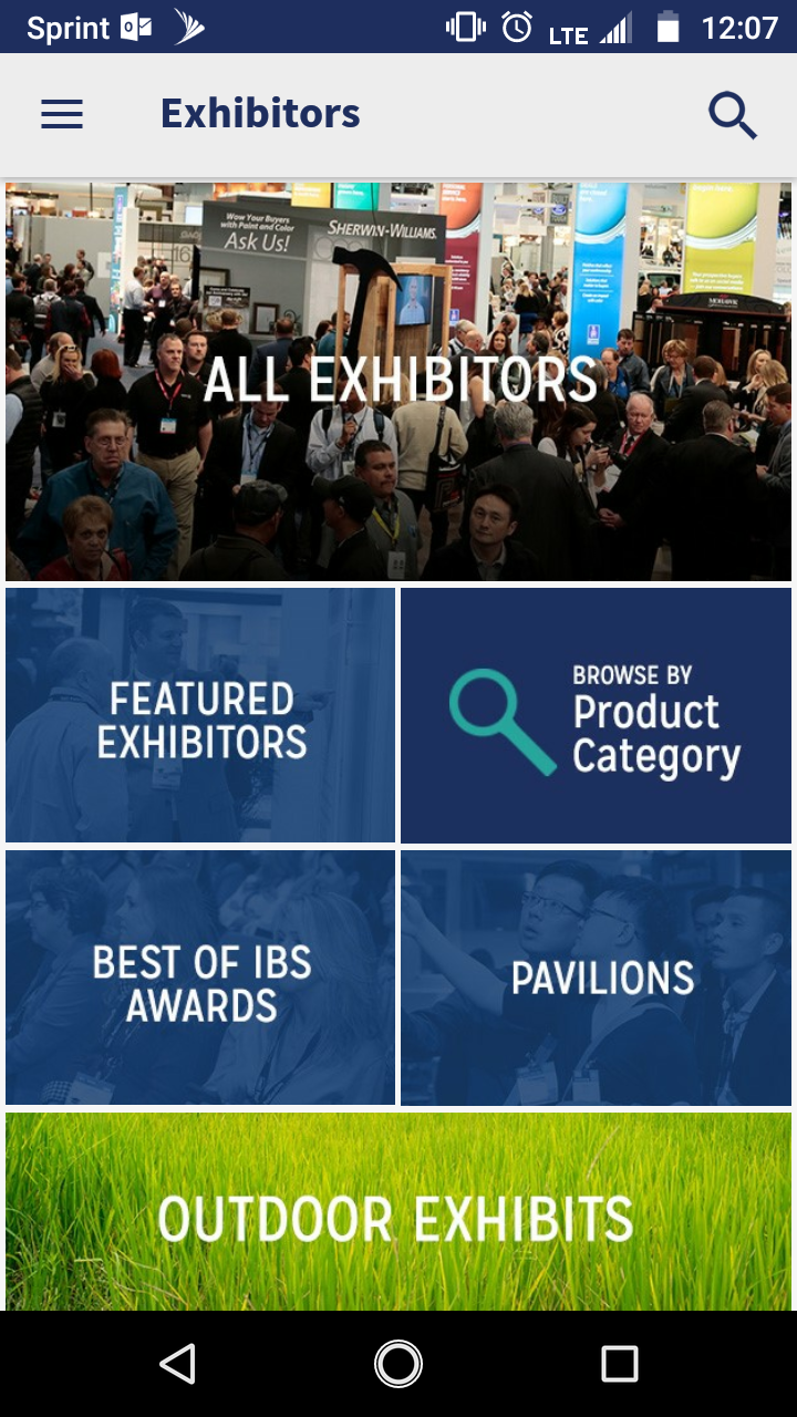 Screenshot of the IBS 2019 app